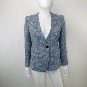 Lafayette 148 NY Tweed One Button Blazer